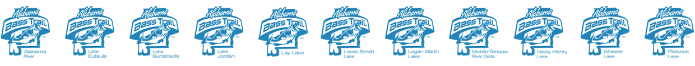 Alabama Bass Trail Lake logos