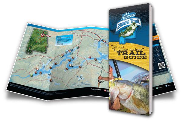Lunker Lake Trail Guide brochure illustration