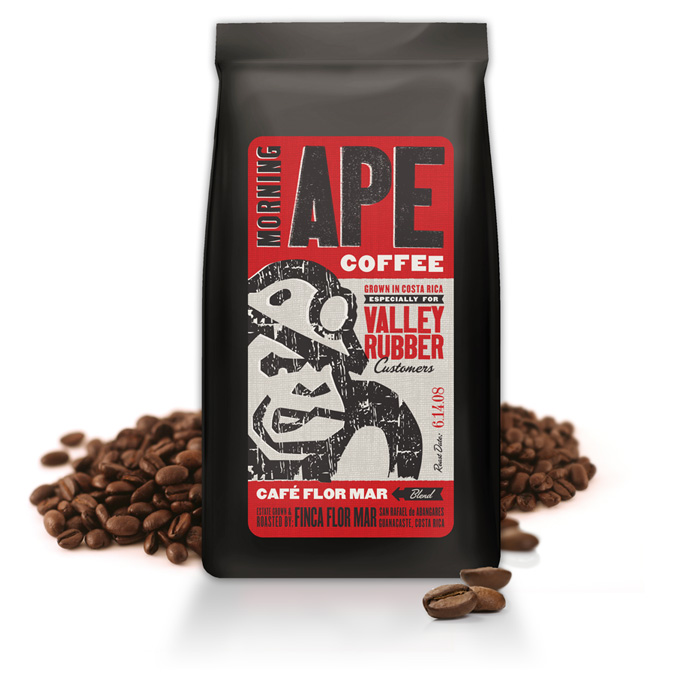 Valley Rubber Morning Ape Coffee gift